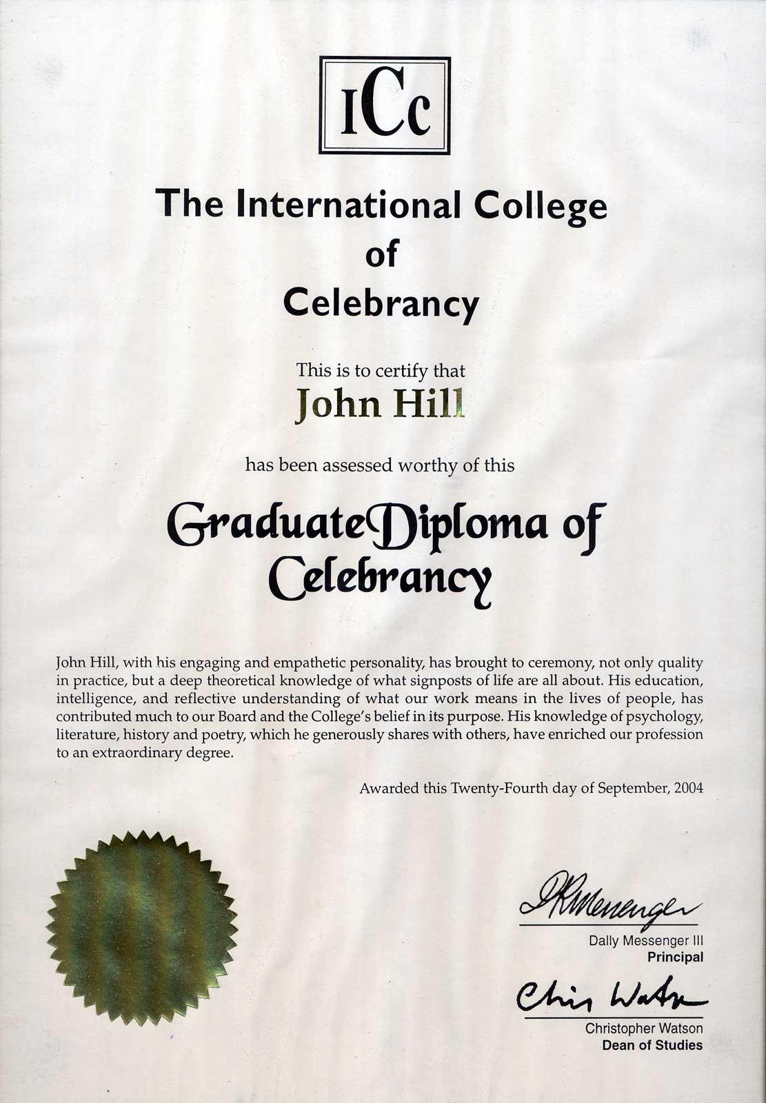 diploma-of-celebrancy